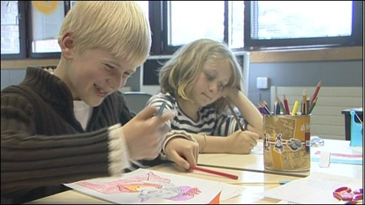 Dutch children at school in the UK