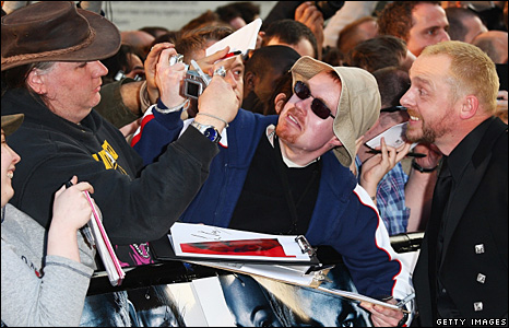 Simon Pegg and fans