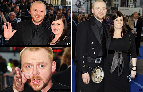 Simon Pegg with partner Maureen McCann