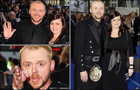 Simon Pegg with partner Maureen McCann