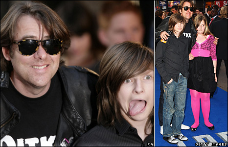 Jonathan Ross and his children