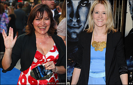 Lorraine Kelly and Edith Bowman