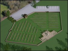 Virtual image of the cemetary
