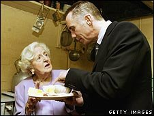 Marguerite Patten with Gary Rhodes