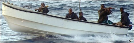 Somali pirates pictured on 5 November 2005