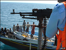 Patrol boat checks out fishing vessel off Somalia