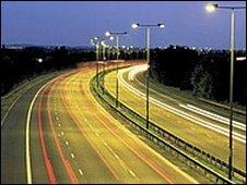 Motorway at night (generic)