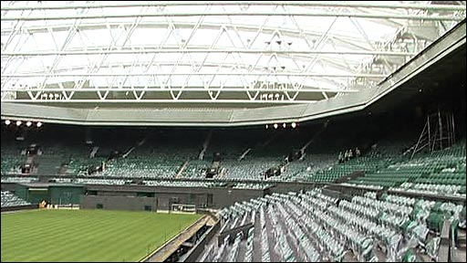 The new retractable roof at Wimbledon's Centre Court
