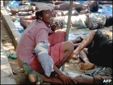 Civilians in the conflict zone
