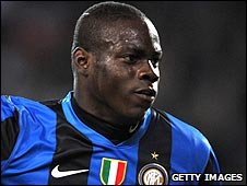 Inter Milan striker Mario Balotelli