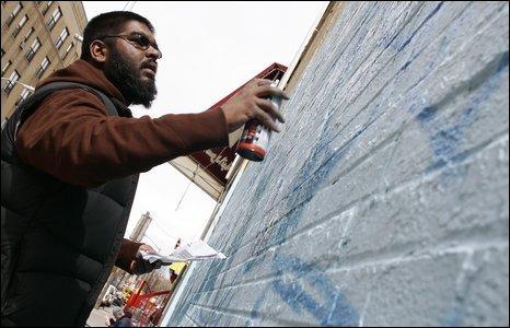 Graffiti artist Mohammed Ali
