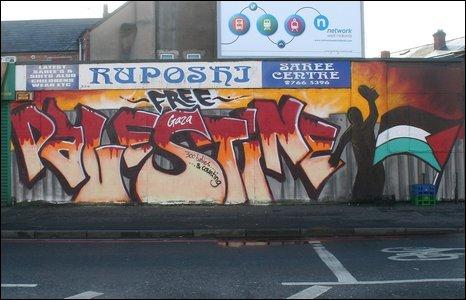 Free Palestine mural in Birmingham