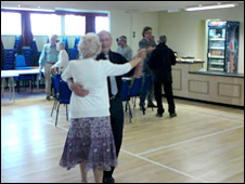Eric Lawrence and his wife Ros lead the tea dance