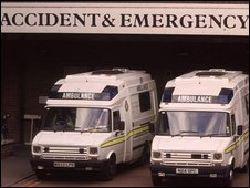 Ambulances at A&E