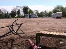 Caravan site in Hullavington