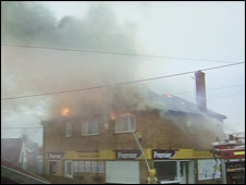 Fire at Crescent Stores