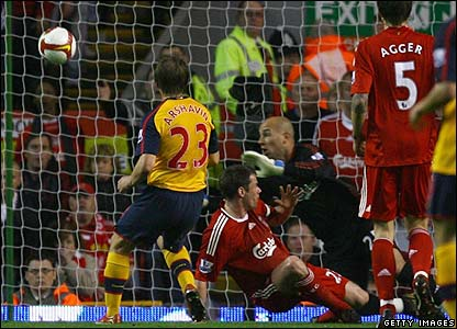 Arshavin scores for Arsenal