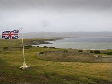 The British cemetery at San Carlos, Falkland islands, file pic from 2007