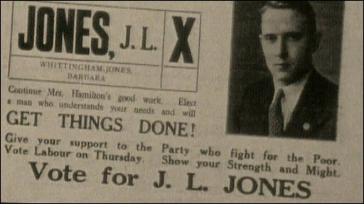 Jack Jones ballot sheet