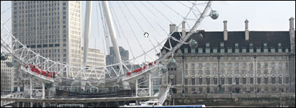 Click's GigaPan image of London's South Bank