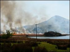 Fire at Rhyd Ddu