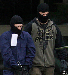 Bomb plot suspect (left) arrested in September 2007