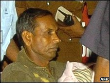 Daya Master receiving hospital treatment in Colombo in 2006
