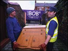 Two workers from Bulky Bob's