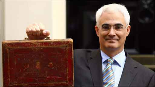 Alistair Darling with his red box