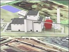 Artist's impression of power plant