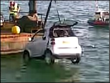 Smart car recoevered from sea
