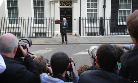 Alistair Darling in Downing Street
