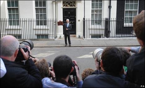 Alistair Darling in Downing Street