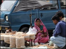 A street seller in Pakistan