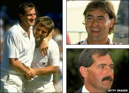 John Emburey (far left) succeeded his Middlesex county captain Mike Gatting (also in picture) for the second and third Tests; he was replaced by Kent skipper Chris Cowdrey (top right), godson of chairman of selectors Peter May; when he was injured for the fifth Test, senior batsman Graham Gooch (bottom right) took over