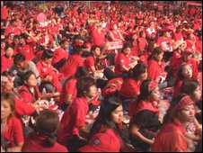 Crowds at Red Shirt Rally