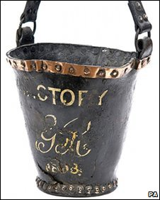 Fire bucket from HMS Victory