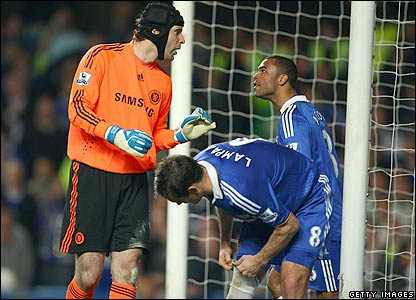 Cech and Cole have words