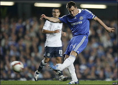 Terry launches a shot from 35 yards