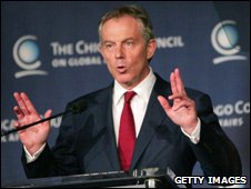 Tony Blair in Chicago