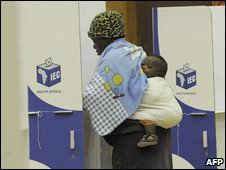 A voter in Cape Town