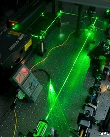 Laser experiment