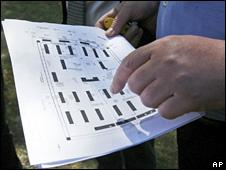 Official shows plan of Lieberose labour camp (21 April 2009)