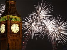Fireworks at Westminster