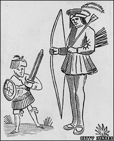 c1600 engraving of Robin and Little John