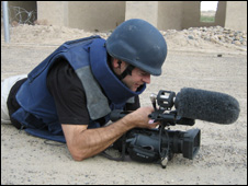 Gareth Jones on location in Afganistan