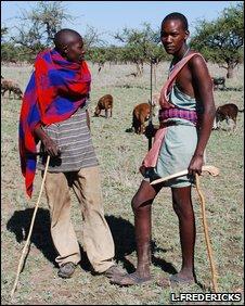 Maasai pastoralists, near Masai Mara reserve