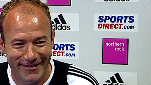 Newcastle boss Alan Shearer