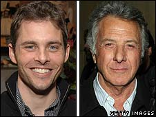 James Marsden and Dustin Hoffman
