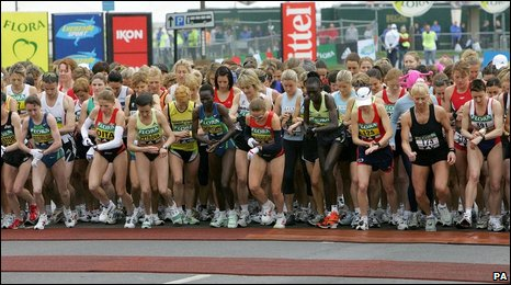 The elite women line up in 2008